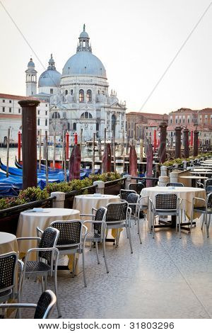 Romantic outdoor restaurant in Venice