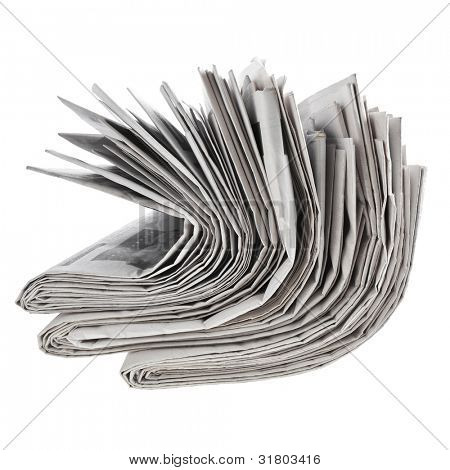 newspapers, isolated on white background
