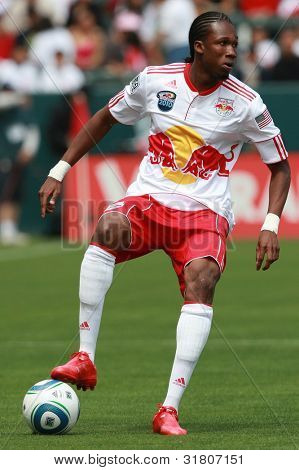 CARSON, CA. - APRIL 10: New York Red Bulls F Macoumba Kandji #10 during the Chivas USA vs New York Red Bulls match on April 10, 2010 at the Home Depot Center in Carson, Ca.