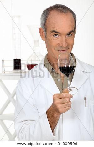 Porträt von einem Önologen