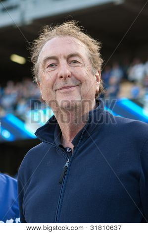 LOS ANGELES - MAY 13: Actor Eric Idle before the MLB game between the Arizona Diamondbacks & Los Angeles Dodgers on May 13 2011 at Dodger Stadium.