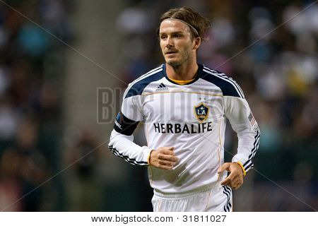 CARSON, CA. - SEP 9: Los Angeles Galaxy M David Beckham #23 during the MLS game between the Colorado Rapids & the Los Angeles Galaxy on Sep 9 2011 at the Home Depot Center.