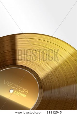 Vector Golden Vinyl Background