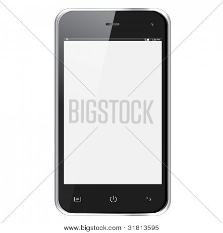 realistische Handy mit leeren Bildschirm isolated on white Background. eps10 Vektor-illustration