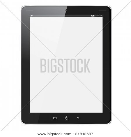 realistische Tablet pc Computer mit leeren Bildschirm isolated on white Background. Vektor eps10 illustrati