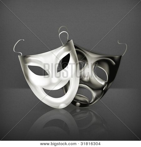 Theater masks, vector
