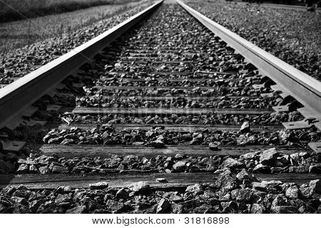 Black And White Train Tracks