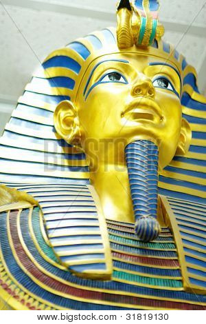 Decor egyptian golden pharaohs mask