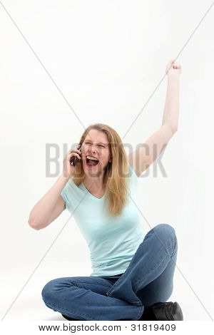 Woman Hears The Good News Over The Phone