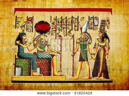 Viejo papel natural de Egipto