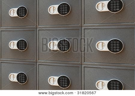 The bank safe with the digital lock