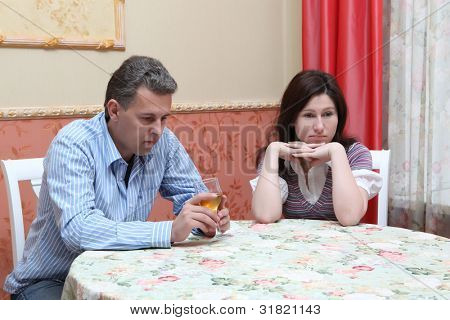 Quarrel between husband and the wife owing to alcohol