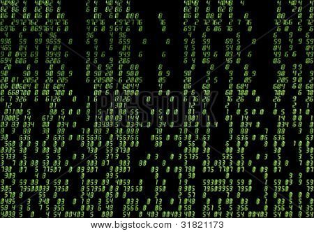 Black & green matrix background