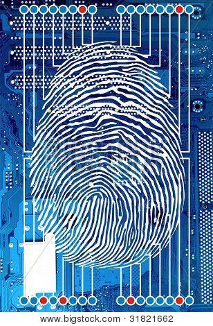Scanning of a finger print