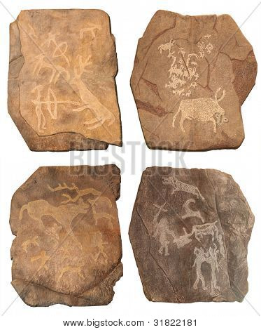 Petroglyphe. Bronze age