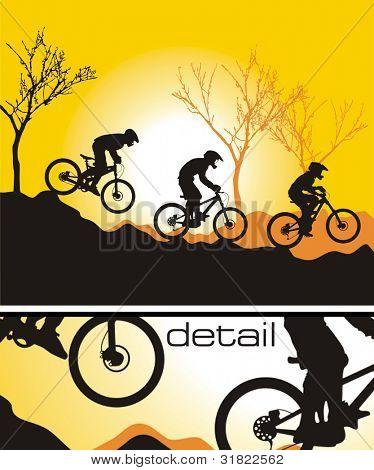 Mountain biker vector (CMYK color profiles)