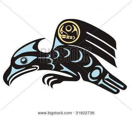 Mythological image eagle Vector