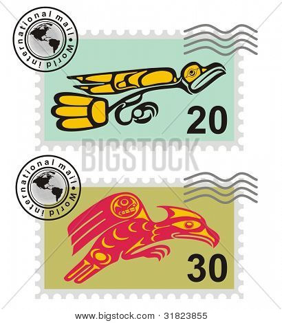 Postmark Mythological image eagle