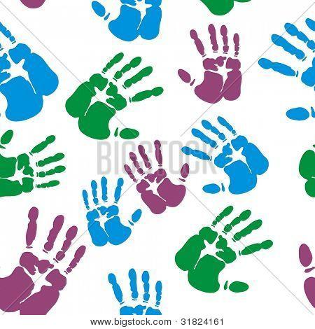 Vector finger print seamless background