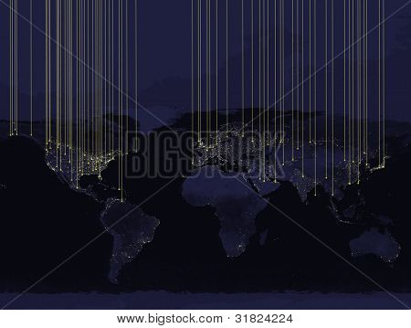 Communications (World map courtesy of NASA)