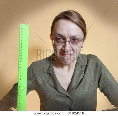 Crazy female teacher