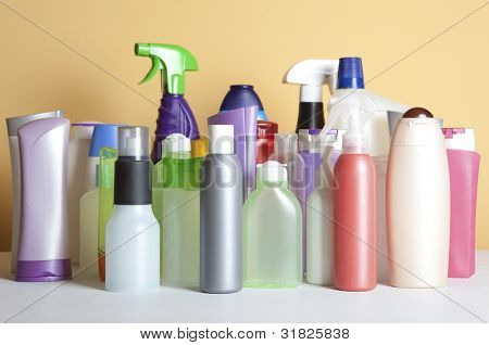 Cleaning Product Housework. Photography Spray Bottle