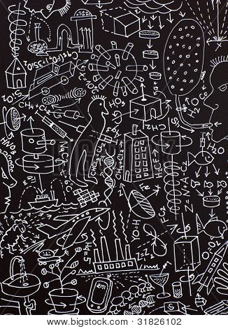 Innovation background. Hand-drawing background