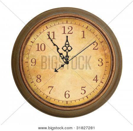 Antiguo reloj antiguo aislado