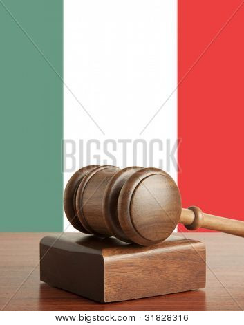Gavel  and Flag of Italy