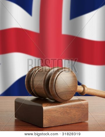 Gavel  and Flag of England