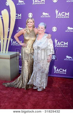 LAS VEGAS - APR 1:  Miranda Lambert, grandma arrives at the 2012 Academy of Country Music Awards at MGM Grand Garden Arena on April 1, 2012 in Las Vegas, NV.
