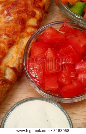 Bowl Of Diced Tomatoes