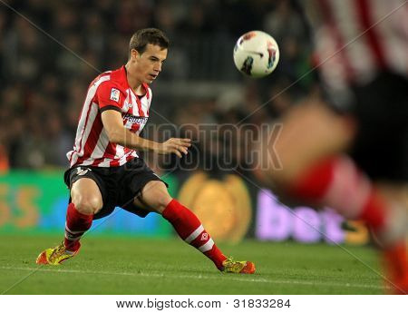 BARCELONA - MARCH, 31: Inigo Perez of Athletic Bilbao in action during the Spanish league match against FC Barcelona at the Camp Nou stadium on March 31, 2012 in Barcelona, Spain