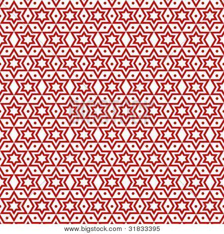 Fundo bonito do padrão de estrelas e pontos sem costura