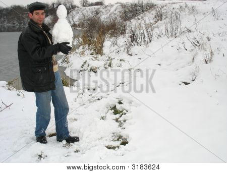 Carrying Snowman