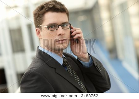 Atractive Businessman With Phone