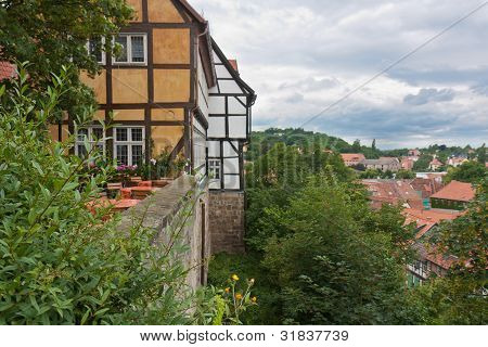 Medieval City Of Quedlinburg In Germany