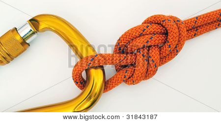 Climbing Equipment - Carabine And Knot