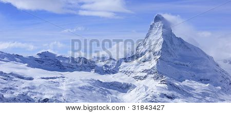 Matterhorn Landscape In Winter