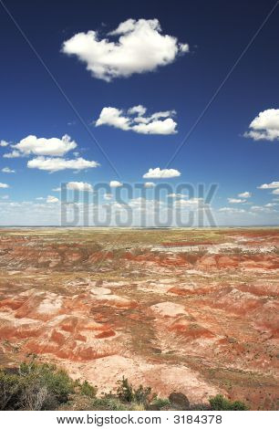 Painted Desert In Petrified Forest Np,Arizona