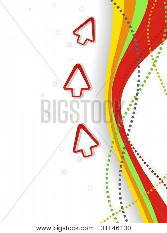 Professional corporate background or business template for financial presentations showing progress arrow on abstract colorful wave background. EPS 10.