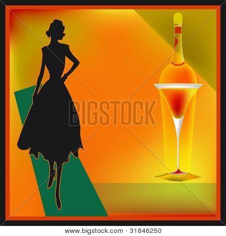 Retro Cocktail Bar Menu Template