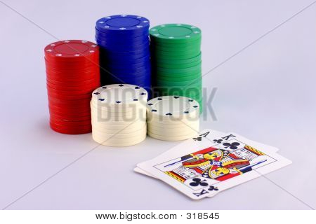 Big Slick With Poker Chips