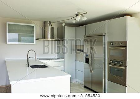 hermosa casa modernista, Isla de cocina