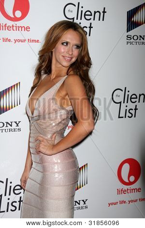 "LOS ANGELES - 4. APRIL: Jennifer Love Hewitt Ankunft in ""The Client List"" Launch Party am Sunse"