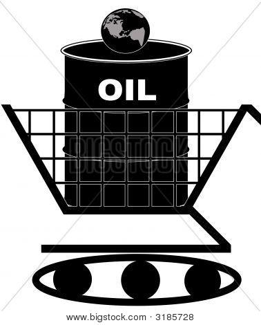 Shopping Cart Tank Oil Barrel Earth