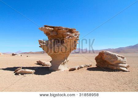 Stone rock formation - Arbol de piedra, Bolivia