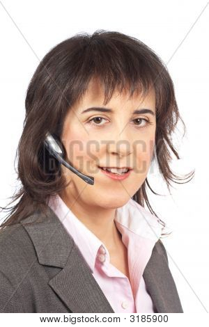 Smiling Customer Support Girl