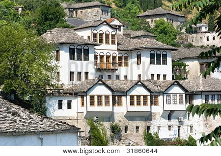 Gjirokaster: house ottoman style in old village, Albania