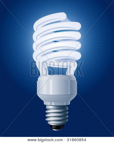 Compact Fluorescent CFL Lamp. Rasterized version